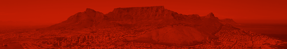 Cap Town Table Mountain in Red