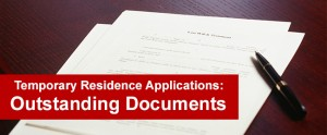 Temporary Residence Applications Outstanding Documents