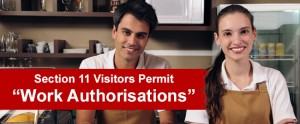 You can apply for a Work Authorisation on a Visitors Permit