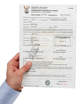 The Actual Permanent Residence Document in Physical form